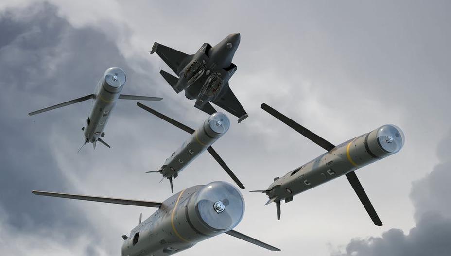 Рендер пуска ракет SPEAR 3 из внутреннего отсека истребителя F-35B ukdefencejournal.org.uk - Британцы покупают «Копья» для своих «Молний»   Warspot.ru