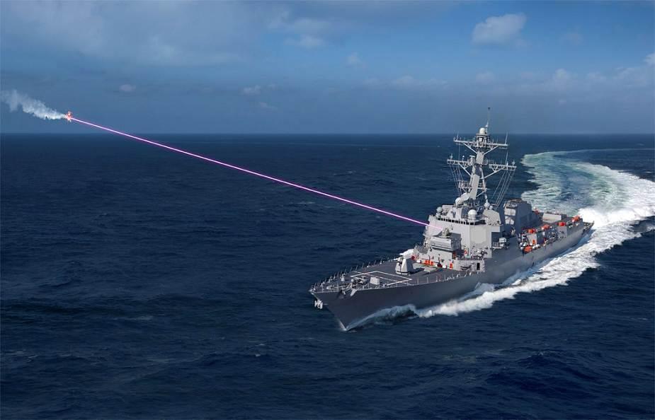 Модель использования установки HELIOS на эсминце типа Arleigh Burke navyrecognition.com - Американский флот готовит «лазерный эсминец» | Warspot.ru
