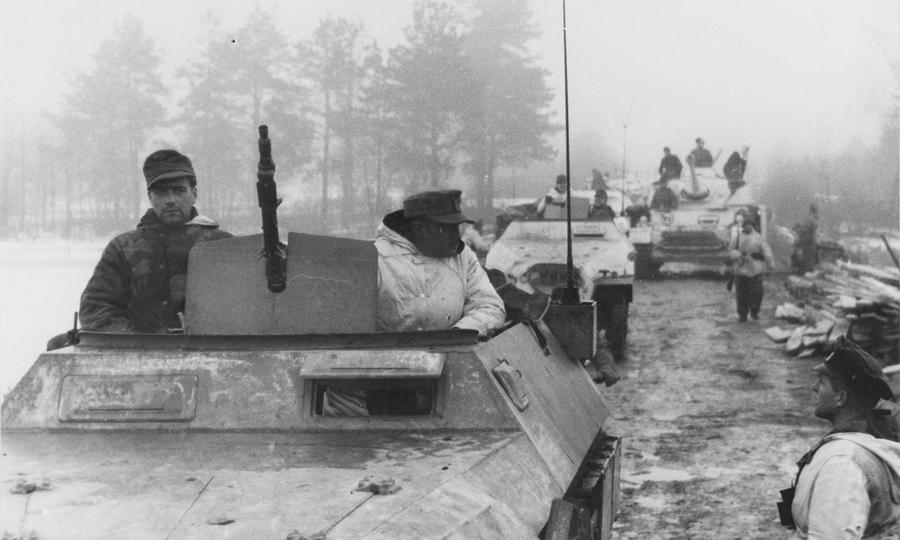 Бронетехника 16-й танковой дивизии вермахта на марше. Украина, зима 1944 года - «Горячий снег» под Цибулевом | Warspot.ru