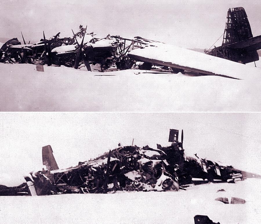 Уничтоженные на аэродроме Грабцево советские транспортные самолёты ТБ-3 - Поломанные крылья вяземского десанта | Warspot.ru