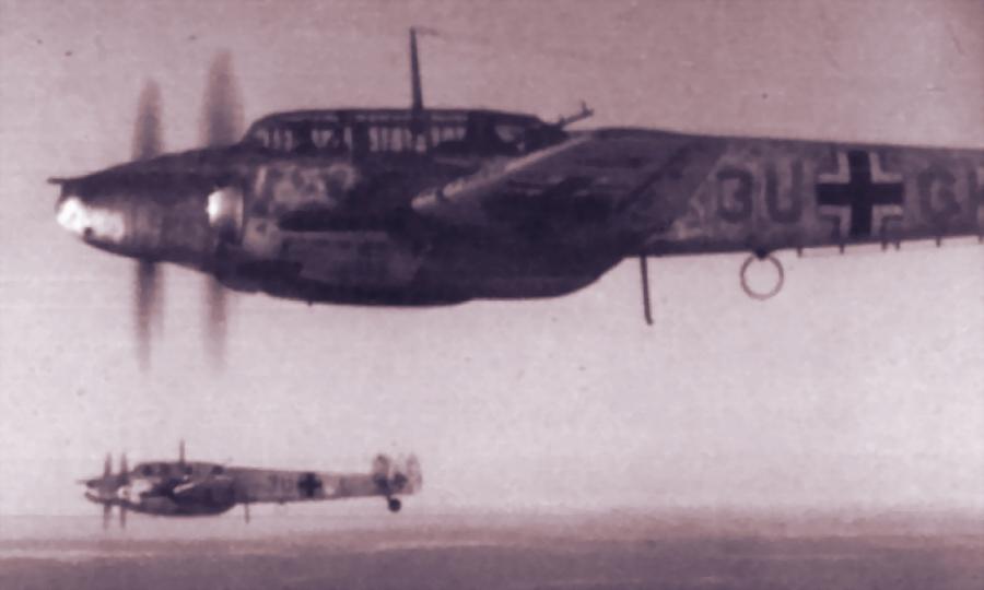 Истребители Bf 110 из отряда 2./NJG 4 в небе, январь-февраль 1942 года - Поломанные крылья вяземского десанта | Warspot.ru