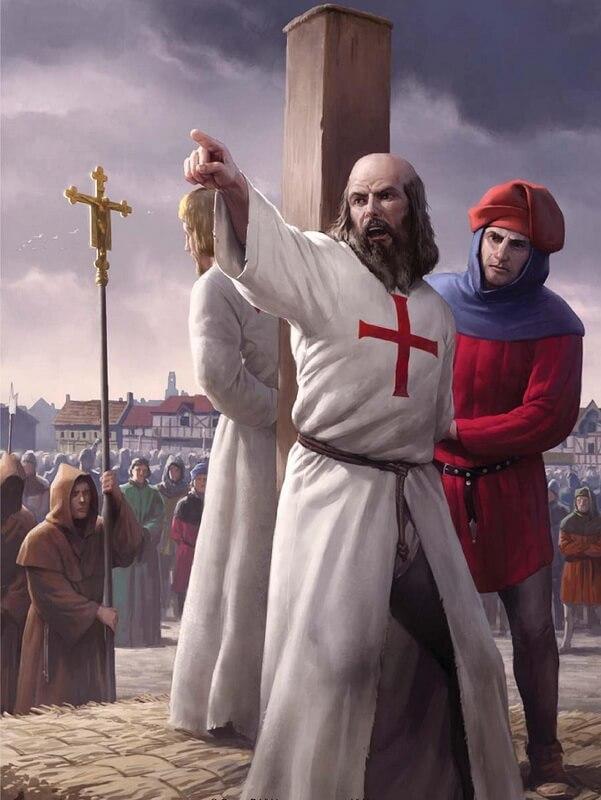 Казнь Жака де Моле. Источник: Davis, G. Knights Templar. A Secret History. — Osprey, 2013 - Орден тамплиеров и крестовые походы | Warspot.ru