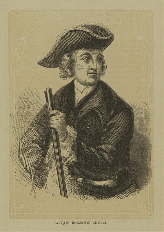 Капитан Бенджамин Чёрч. commons.wikimedia.org - Смерть сахема   Warspot.ru