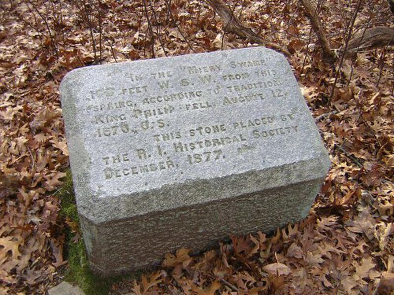Памятный знак на месте гибели короля Филиппа. commons.wikimedia.org - Смерть сахема   Warspot.ru