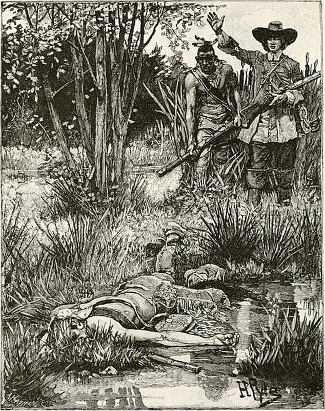 Смерть короля Филиппа. commons.wikimedia.org - Смерть сахема   Warspot.ru