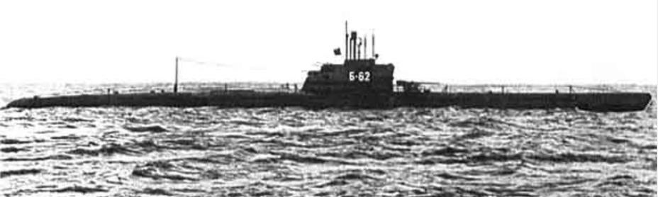 Подводная лодка Б-62 проекта 611 на ходовых испытаниях; 1953 год deepstorm.ru - Гроза над океаном   Warspot.ru