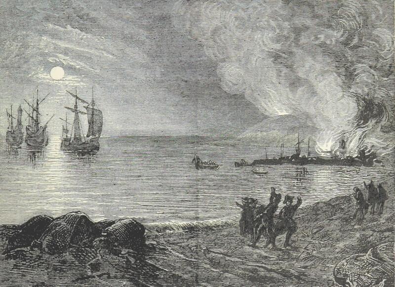 Высадка испанцев в Корнуолле. wikimedia.org - Третья Армада   Warspot.ru