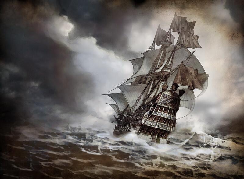 Испанский галеон в шторм. divingthemaravillas.wordpress.com - Третья Армада   Warspot.ru
