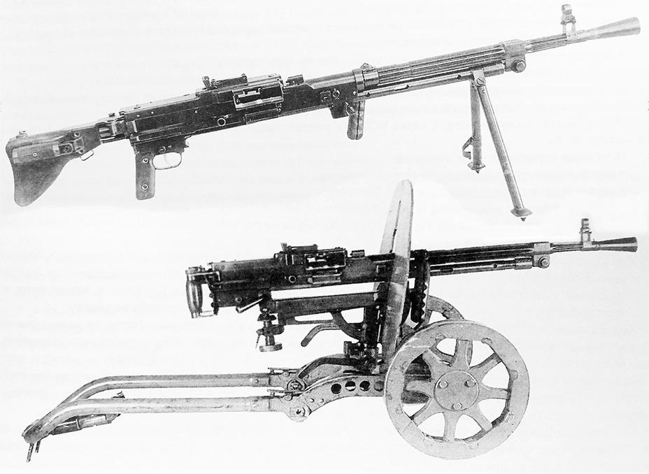 7,62-мм единый пулемёт Гаранина КБ-П-420 на сошках и колёсном станке, 1947 год Энциклопедия ковровского оружия - Первый единый | Warspot.ru
