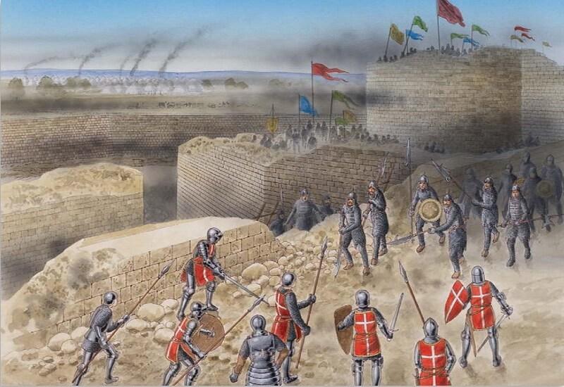 Защита Родоса в 1522 году. Источник: Osprey — Fortress 096 — The Fortress of Rhodes 1309–1522 - Орден госпитальеров и крестовые походы | Warspot.ru