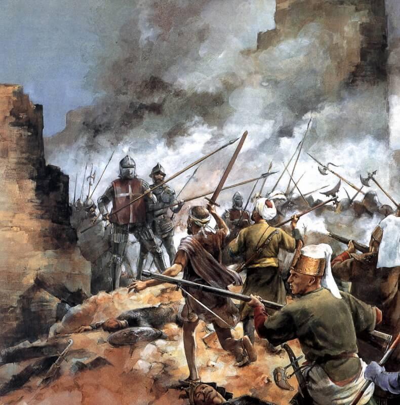 Битва за Мальту, 1565 год. Источник: Osprey — Campaign 050 — Malta 1565. Last Battle of the Crusades - Орден госпитальеров и крестовые походы | Warspot.ru