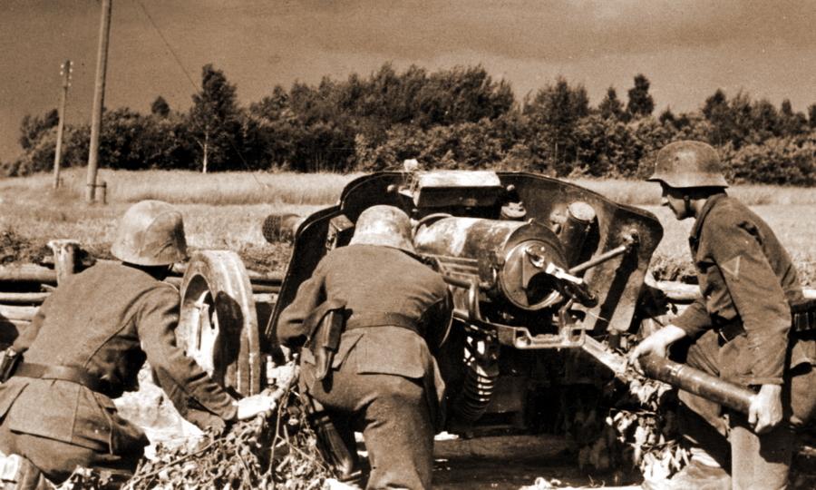 Позиция немецкой 75-мм противотанковой пушки PaK 97/38 в районе литовского города Биржай - Удержаться под ударом   Warspot.ru