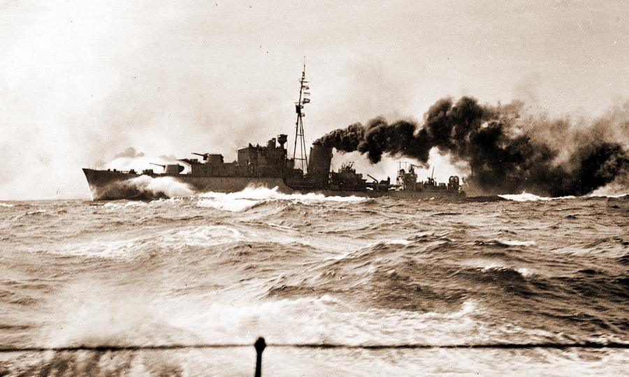 Британский эсминец «Киплинг» в сражении в заливе Сирт, 22 марта 1942 года - Триумф гауптмана Хельбига | Warspot.ru