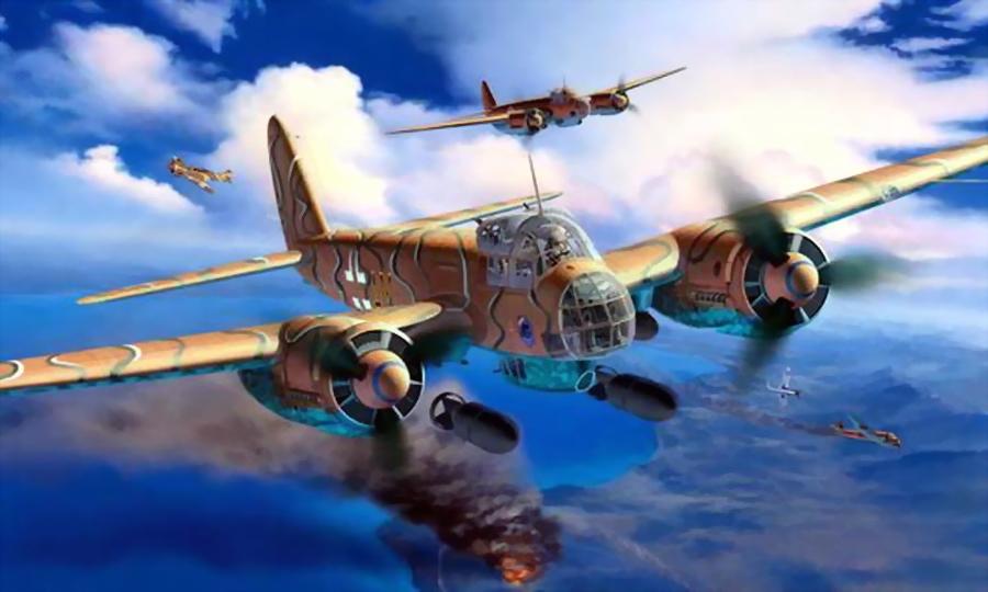 Бомбардировщики «Юнкерс» Ju 88 в атаке - Триумф гауптмана Хельбига | Warspot.ru